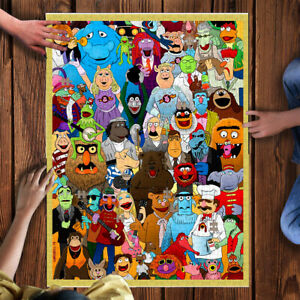 500 Pcs Wooden Puzzle The Muppets Large Jigsaw Puzzle Adult Game Toy Gift