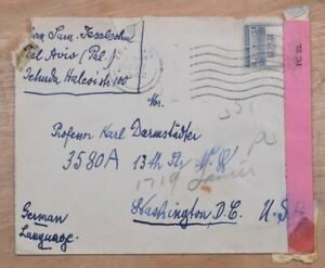 Mayfairstamps Palestine 1942 Tel Aviv to US Censored Cover wwp10267