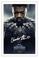 CHADWICK BOSEMAN BLACK PANTHER SIGNED AUTOGRAPH PHOTO PRINT