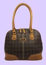 MARC FISHER PARK AVE Checkmate Color-Block Leather Satchel Bag $78 *Reduced 80%*