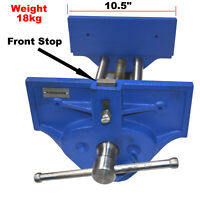 """10.5"""" (265mm) Large Heavy Duty Quality Quick Release Woodworking Vice 390mm Cap."""