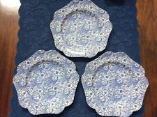 Spode Blue Floral 5 sided plates