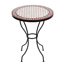Marokkanischer Mosaiktisch orientalischer Tisch Bistrotisch Gartentisch 60cm Ero