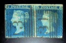 UK stamp pair #4 used F