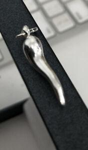 "925 Sterling Silver Italian Horn Cornicello Charm Pendant Necklace - 16""24"" Inch"