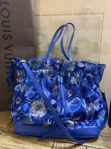 Authentic Louis Vuitton Noe Full MM 2 Way Monogram Ikat Flower Handbag.