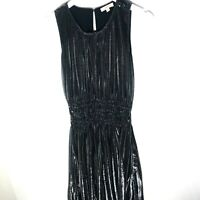 GILLI Shimmer Metallic Pleated Women's Evening Gown Maxi Dress, Size Medium