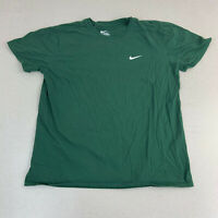 Nike T-shirt Mens Large Athletic Cut Green Short Sleeve Casual