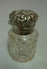 Victorian Silver & Cut Glass Scent Bottle Charles May Birmingham 1893 A591616