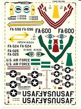 Loose, Skylancer  F-94C Starfire Decals in 1/72 01 No Instructions