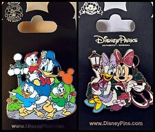 Disney Parks 2 Pin Lot Donald Duck and nephews at the Park + Daisy & Minnie