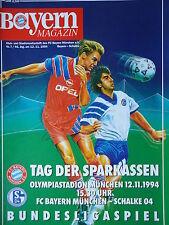 Programm 1994/95 FC Bayern München - FC Schalke 04