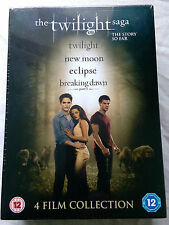 BRAND NEW SEALED BOX THE TWILIGHT SAGA 4 DVDs  THE STORY SO FAR