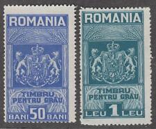 Romania Wheat Bread Revenues Barefoot #1-2 unused 1931 cv $7