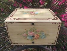 Rare Oriental Accent Since 1880 Hand Painted Flowers Roses Flatware Box 4 Bombay