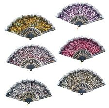 Lot of 2 Vintage Chinese Japanese Style Folding  Hand Fan Gift USA
