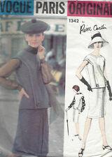 1964 Vintage VOGUE Sewing Pattern DRESS BLOUSE & SCARF B36 (1513) Pierre Cardin