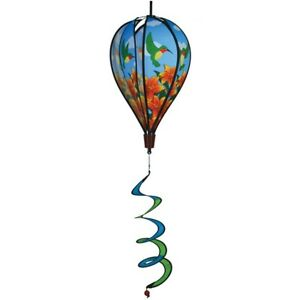 In The Breeze Hummingbird Lily Hot Air Balloon Wind Spinner