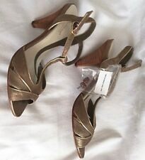 Gold Shoes Size 4 - leather - BNWOT - River Island RRP £44.99