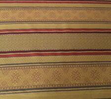 BRUNSCHWIG + FILS Ottoman Stripe woven cotton gold rust taupe 3+ yards