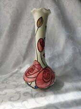 More details for vintage old tupton ware macintosh rose design vase