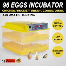 96 Eggs Automatic Incubator Hatcher Temperature Duck Bird Hygrometer Control Box