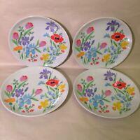 Set Of 4 Salad Plates - Heinrich H & C SELB Bavaria Germany Primavera 7 3/4 Inch
