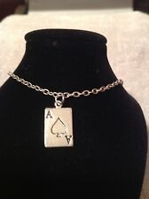 ace of spades Anklet silver plated
