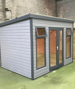 12x8ft Pent Summerhouse, Painted in a colour of your choice.