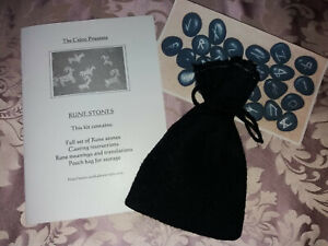 Brand new Sealed Blue Celtic Rune Stones from Autumn a Genuine Celtic Priestess