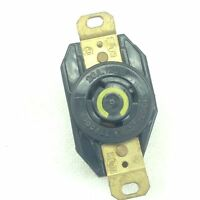 NEW! HUBBELL TWIST-LOCK 3-WIRE RECEPTACLE  20A/125VAC  YELLOW FAST SHIP!!  (A47)