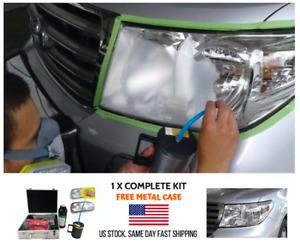 Kit de Restauracion de Lamparas Pulimiento faros UV Coat Herramienta Vapor autos