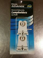 2 Pack Fluorescent Lampholder Sockets Medium Bi-Pin Low Profile, Philips Advance