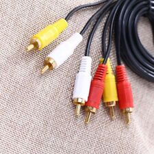 Cord Connector for DVD TV 5FT 3RCA Composite Male to Male AV Audio Video Cable