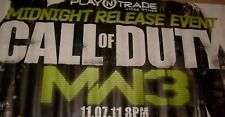 """HUGE CALL OF DUTY MW3 STORE DISPLAY VINYL POSTER BANNER 93"""" by 36"""" GREAT GIFT"""