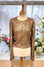 Stunning HOBBS Gold sequin party special occasion jacket size 18