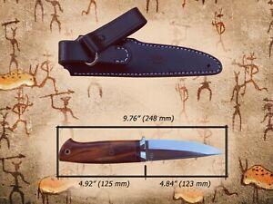 "G.Dedyukhin Fixed Blade Hunting Knife ""Ethno"" M390 Handmade in Bark River Style"