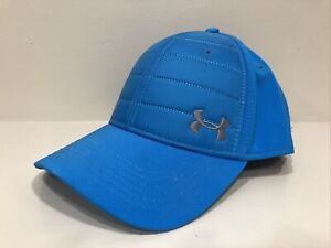 Under Armour Mens Medium UA Classic Fit Hat Mesh Fitted Stretch Blue M
