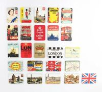 SET OF 6 FRIDGE MAGNETS RETRO  LONDON ICONS SOUVENIR FREE UK POSTAGE MAGNET