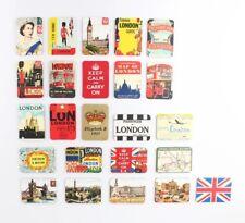 SET OF 6 FRIDGE MAGNETS RETRO  LONDON ICONS SOUVENIR FREE UK POSTAGE MAGNET