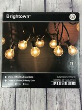 Brightown Indoor/Outdoor String Of Clear 25 G40 Globe Lights