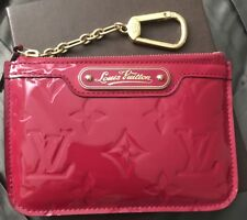 AUTHENTIC Louis Vuitton Vernis Pochette Cles. Indian Rose. Pre owned.