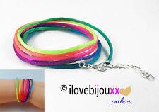 Bracciale Colorato Arcobaleno 6 giri corda multicolore braccialetto Donna Estate