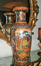 Vintage Large Chinese Famille Rose*6 Lady*Porcelain Palace Floor Vase~ 24 Inches