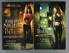 Friday Night Bites & Twice Bitten by Chloe Neill 2009 & 2010 Paperbacks