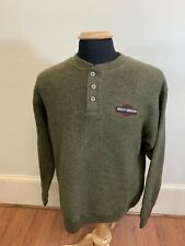 Harley Davidson Mens Black Label Green Sweater Medium 80% Acrylic 20% Polyester