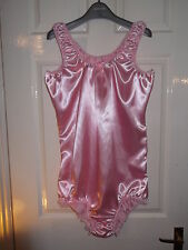 ADULT BABYS~MAIDS~SISSY~UNISEX GORGEOUS SATIN ALL-IN-ONE BODY~TEDDY WITH POPPERS