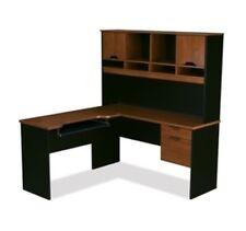 Bestar Innova L-shaped desk in Tuscany Brown & Black finish 92420-63 New