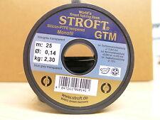 STROFT Vorfachmaterial GTM 25 Meterspule  0,14mm Durchmesser  Tragkraft 2,3kg