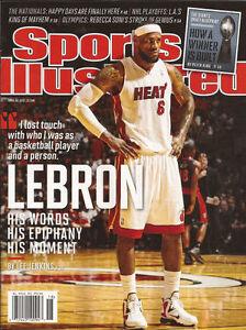 Lebron James Miami Heat 2012 Sports Illustrated No Label Lebron (The King)James